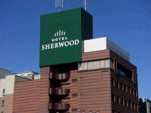 「ホテルシャーウッド」に併設するカフェテリアも魅力的